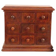 Early 19th Century Walnut Spice Cabinet