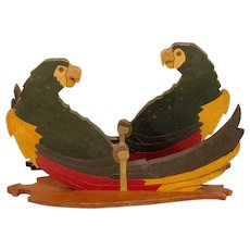 A Pair of Painted Parrot Wall Sconces