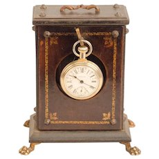 Watch Hutch in Leather and Brass