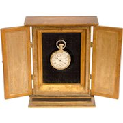 Gilded Two-Door Watch Hutch