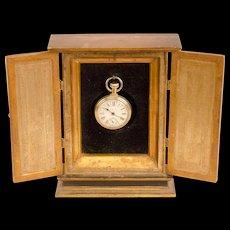 Gilded Two-Door Watch Hutch