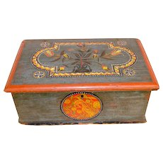18th Century Painted and Decorated Bible Box