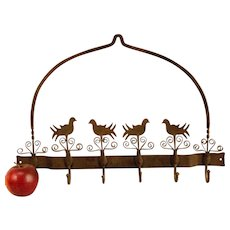 Early Wrought Iron Utensil Rack
