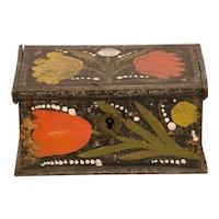 Paint Decorated 19th Century Trinket Box