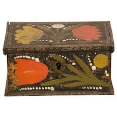 Paint Decorated 19th Century Trinket Box