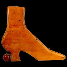 Victorian Style Shoe Form Trade Sign