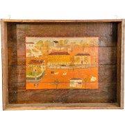 Folk Art Painted Box/Tray