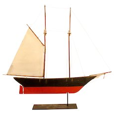 Wooden Schooner Weathervane
