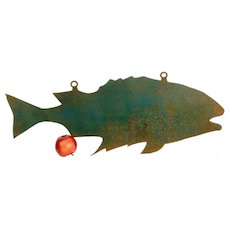 Sheet Metal Fish Trade Sign