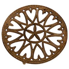 Cast Iron Heart Trivet