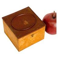 Scovill 19th Century Collar Box with Gutta-Percha Lid