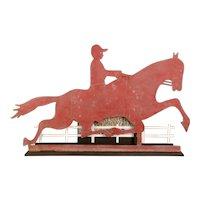 Horse and Jockey Sheet Metal Weathervane