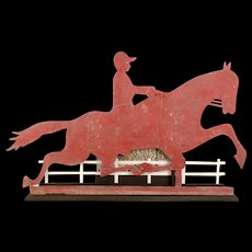 Horse and Jockey Sheet Metal Weathervane