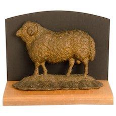 Sheep Form Cast Iron Doorstop