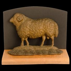 Sheep Form Cast Iron Doorstop