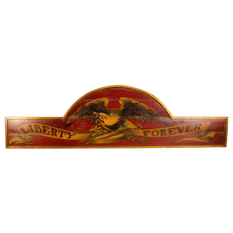 Liberty Forever Wooden Sign