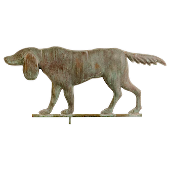 Early 20th Century Copper Setter Weathervane