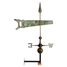 Copper Hand Saw Weathervane