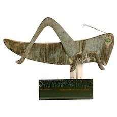 Copper Swell-bodied Grasshopper Weathervane