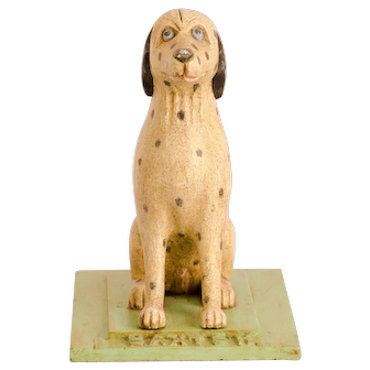 """Carved and Painted Firehouse Dog """"Baxter"""""""
