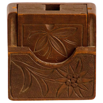 Ladies Wooden Carved Watch Case