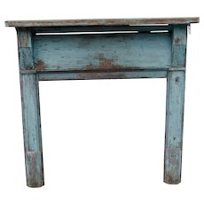 """""""Haint"""" Blue Mantel and Fireplace Surround"""