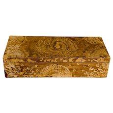 Vinegar Paint Decorated Document Box