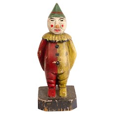 Carved and Painted Carnival Clown
