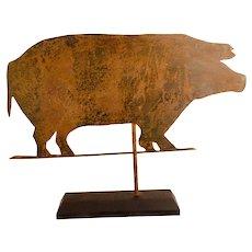 Sheet Iron Pig Weathervane