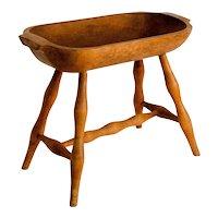 Oblong Wooden Bowl on Legs