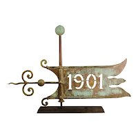 Copper Banner Weathervane, 1901
