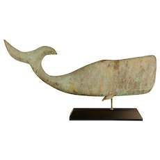 Copper Swell-body Whale Weathervane