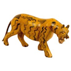 Carved and Painted Folk Art Tige