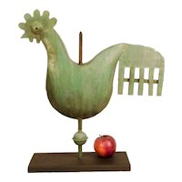Contemporary Full-Bodied Rooster Sculpture