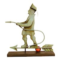 Swell-Bodied Copper Fireman Weathervane