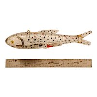 Carved and Painted Ice Fishing Fish Decoy