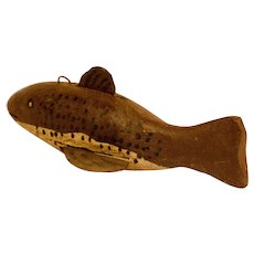 Brown Ice-Fishing Fish Decoy