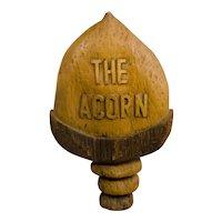 Carved Wooden Acorn Sign