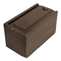 Large Slide Lid Candle Box in Black Paint