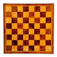 Inlaid Wooden Checker Board, Eight by Eight Pattern