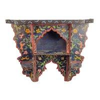 Paint Decorated Folk Art Shelf