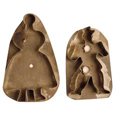 Two  19th Century Figural Cookie Cutters