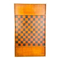 Double Sided Game Board, Checkers and Parcheesi