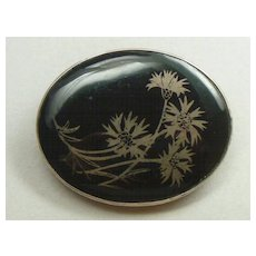 Antique Victorian enamel brooch