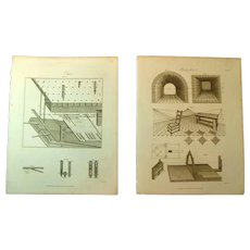 A Pair of Late GFeorgian Engravings of Organs & Perspective c. 1821