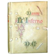Vellum Bound Italian Edition of Dante's Inferno