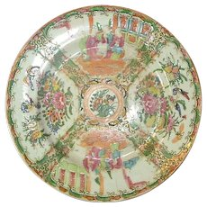Chinese export Rose Medallion dinner plate