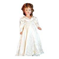 "Vintage Composition Effanbee 26"" Anne Shirley Bride Doll"