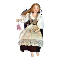 """Rare OOAK 19"""" Cinderella Doll by Artist Anne Hieronymus Tagged & Signed"""
