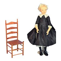 """Rare Orig LE #27/60 Heloise Poupees de Collection 'Delphine' doll 22"""" Marked by Artist"""